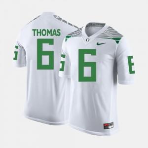 Men's University of Oregon #6 De'Anthony Thomas White College Football Jersey 122772-246