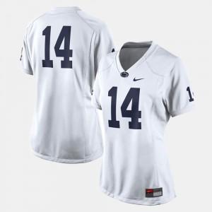 Women's Penn State #14 White College Football Jersey 497371-241