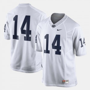 Mens Nittany Lions #14 White College Football Jersey 641171-546
