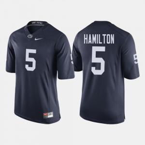 For Men PSU #5 DaeSean Hamilton Navy College Football Jersey 556923-767
