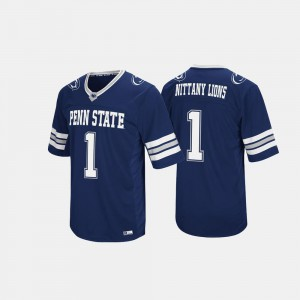 Men Penn State Nittany Lions #1 Navy Hail Mary II Jersey 197366-267