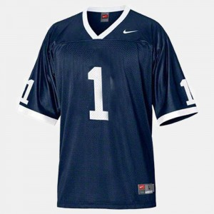 For Men's Penn State Nittany Lions #1 Joe Paterno Blue College Football Jersey 568109-117
