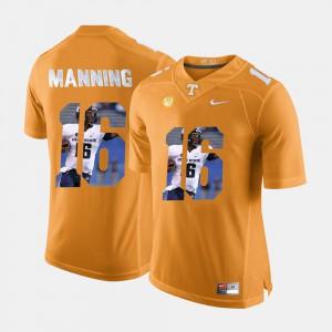 Men University Of Tennessee #16 Peyton Manning Orange Pictorial Fashion Jersey 442525-473