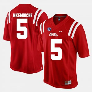 For Men's University of Mississippi #5 Robert Nkemdiche Red Alumni Football Game Jersey 449459-980