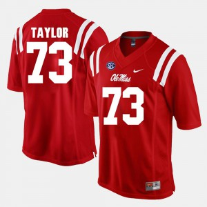 For Men Ole Miss #73 Rod Taylor Red Alumni Football Game Jersey 246755-960