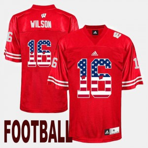 Men's UW #16 Russell Wilson Red US Flag Fashion Jersey 222568-299