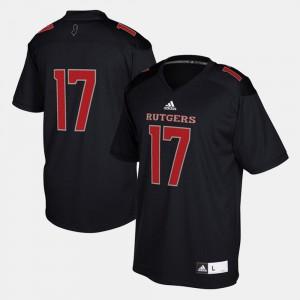 For Men Rutgers University #17 Black 2017 Special Games Jersey 951074-710