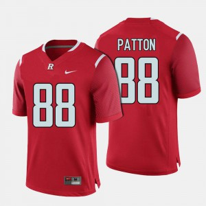 For Men's Rutgers Scarlet Knights #88 Andre Patton Red College Football Jersey 637550-210