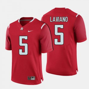 Men Scarlet Knights #5 Chris Laviano Red College Football Jersey 698841-403