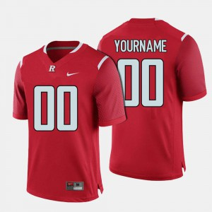 Mens Scarlet Knights #00 Red College Football Customized Jerseys 302885-179