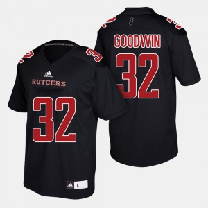 For Men's Rutgers #32 Justin Goodwin Black College Football Jersey 195873-441