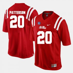 Men's Rebels #20 Shea Patterson Red Alumni Football Game Jersey 674397-395