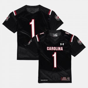 For Kids South Carolina Gamecocks #1 Black College Football Jersey 457652-228