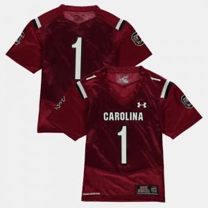 Youth Gamecocks #1 Garnet College Football Jersey 532001-517