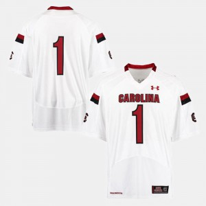 Men USC Gamecock #1 White College Football Jersey 858085-859
