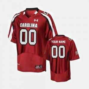 For Men's USC Gamecocks #00 Red College Football Customized Jerseys 420386-507