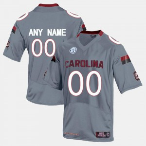 Men Gamecock #00 Grey College Limited Football Customized Jerseys 317340-909