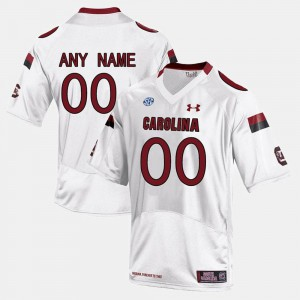 For Men's Gamecocks #00 White College Limited Football Customized Jersey 475968-246