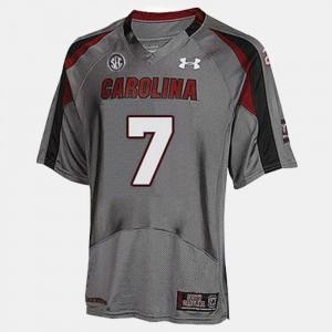 For Men USC Gamecocks #7 Jadeveon Clowney Gray College Football Jersey 752506-808
