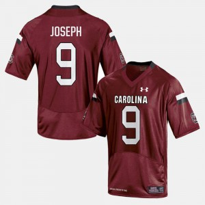 Men SC #9 Johnathan Joseph Cardinal College Football Jersey 454989-521