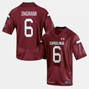 Men's Gamecocks #6 Melvin Ingram Cardinal College Football Jersey 531074-788