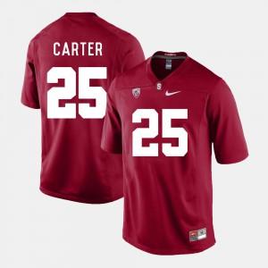 For Men's Stanford University #25 Alex Carter Cardinal College Football Jersey 531670-804