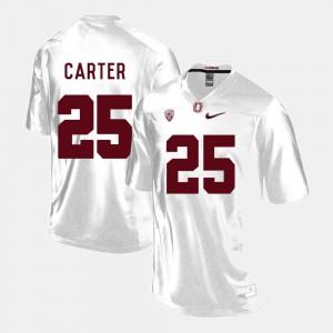 Men Cardinal #25 Alex Carter White College Football Jersey 505004-433