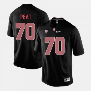 Mens Stanford #70 Andrus Peat Black College Football Jersey 434727-965