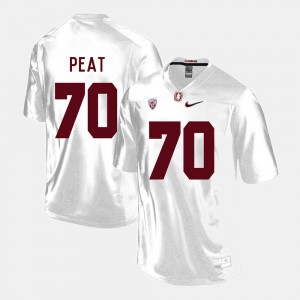 Men's Stanford University #70 Andrus Peat White College Football Jersey 953550-878