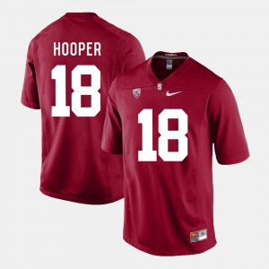 Mens Stanford Cardinal #18 Austin Hooper Cardinal College Football Jersey 955568-918