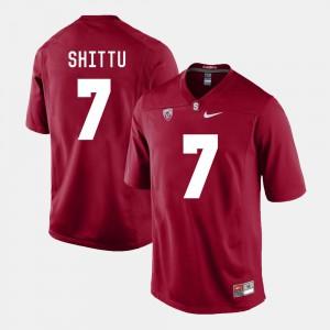 For Men Stanford #7 Aziz Shittu Cardinal College Football Jersey 619324-129
