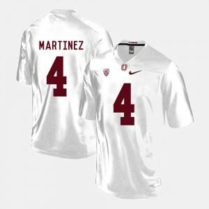 For Men Cardinal #4 Blake Martinez White College Football Jersey 280184-944