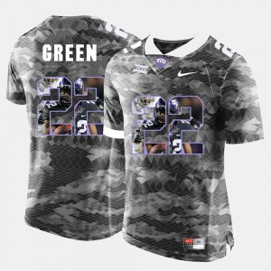 Mens Texas Christian #22 Aaron Green Grey High-School Pride Pictorial Limited Jersey 499067-516