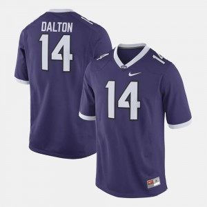 Men's Horned Frogs #14 Andy Dalton Purple Alumni Football Game Jersey 822178-889