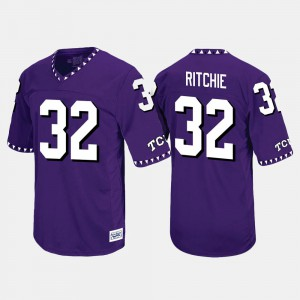 Mens TCU #32 Brandon Ritchie Purple Throwback Jersey 575361-710
