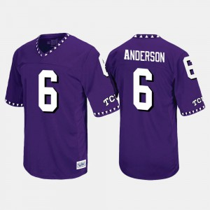For Men Horned Frogs #6 Darius Anderson Purple Throwback Jersey 925725-369