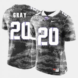 Men TCU #20 Deante Gray Grey College Football Jersey 228756-899