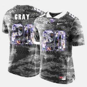 For Men's TCU #20 Deante Gray Grey High-School Pride Pictorial Limited Jersey 967310-872
