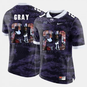 For Men Texas Christian #20 Deante Gray Purple High-School Pride Pictorial Limited Jersey 630738-111