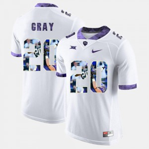For Men's Texas Christian University #20 Deante Gray White High-School Pride Pictorial Limited Jersey 554903-250