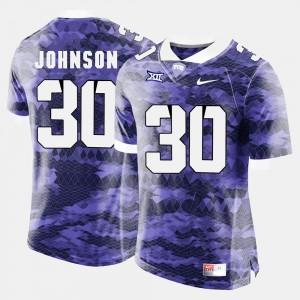 Men TCU Horned Frogs #30 Denzel Johnson Purple College Football Jersey 828550-749