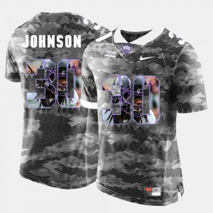 Mens Horned Frogs #30 Denzel Johnson Grey High-School Pride Pictorial Limited Jersey 774461-326