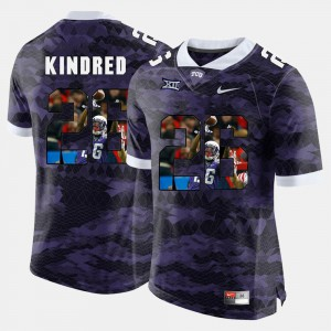 Mens Texas Christian University #26 Derrick Kindred Purple High-School Pride Pictorial Limited Jersey 344409-529