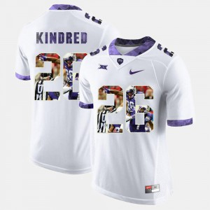 For Men's TCU Horned Frogs #26 Derrick Kindred White High-School Pride Pictorial Limited Jersey 379098-289