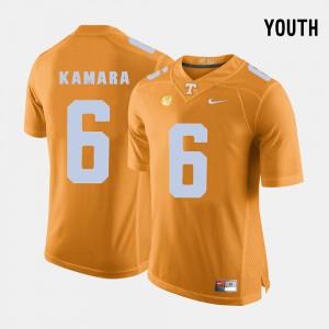 Youth UT VOLS #6 Alvin Kamara Orange College Football Jersey 632109-295