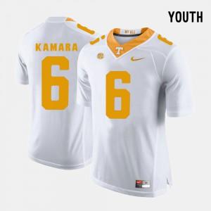 Kids UT VOLS #6 Alvin Kamara White College Football Jersey 861539-499