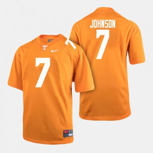 For Men Tennessee Volunteers #7 Brandon Johnson Orange College Football Jersey 961430-423