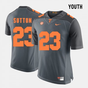 For Kids Vols #23 Cameron Sutton Grey College Football Jersey 554125-510