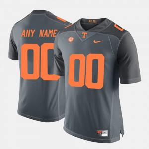 For Men's Tennessee Volunteers #00 Grey College Limited Football Customized Jersey 388457-679