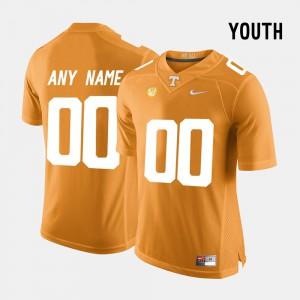 For Kids UT #00 Orange College Limited Football Customized Jerseys 833079-345